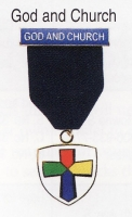 God and Church medal